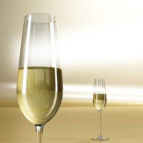 6 wine glass collection 3d model max obj 3ds fbx 4