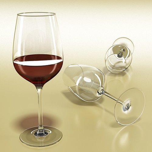 6 wine glass collection 3d model max obj 3ds fbx mtl mat 13