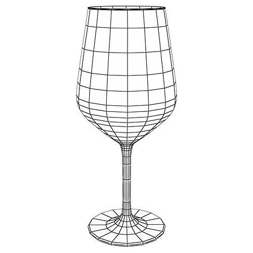6 wine glass collection 3d model max obj 3ds fbx mtl mat 27