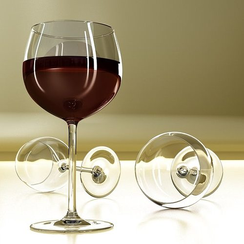 6 wine glass collection 3d model max obj 3ds fbx mtl mat 17