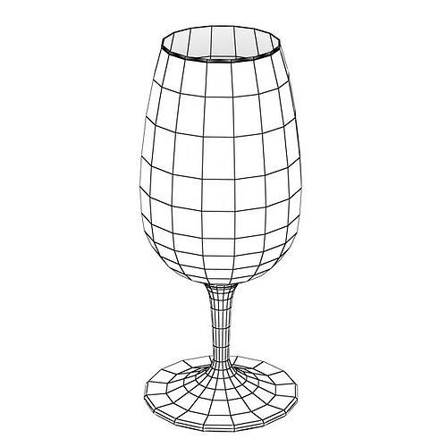 6 wine glass collection 3d model max obj 3ds fbx 11