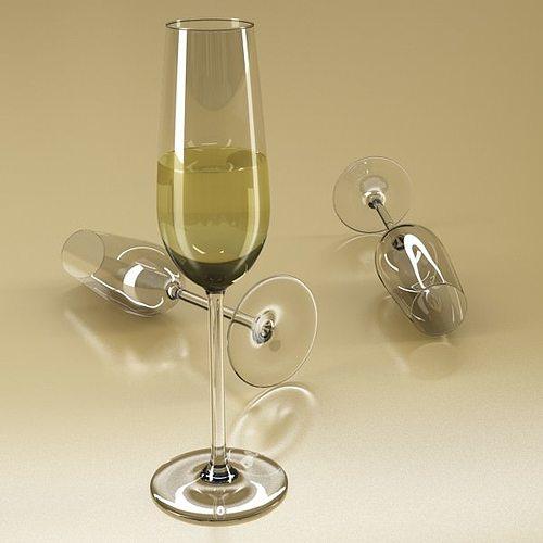 6 wine glass collection 3d model max obj 3ds fbx 5