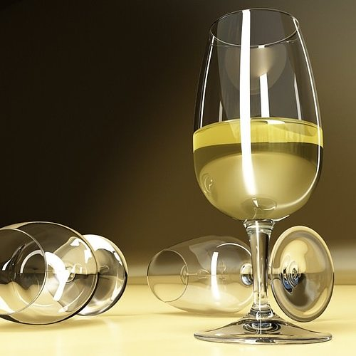 6 wine glass collection 3d model max obj 3ds fbx 9