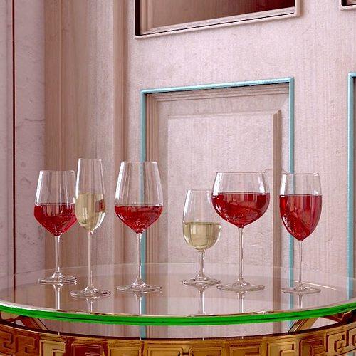 6 wine glass collection 3d model max obj 3ds fbx 2