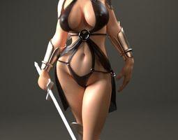 beautiful elf figurine  3d printable model