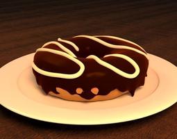 3D model Chocolate Doughnut