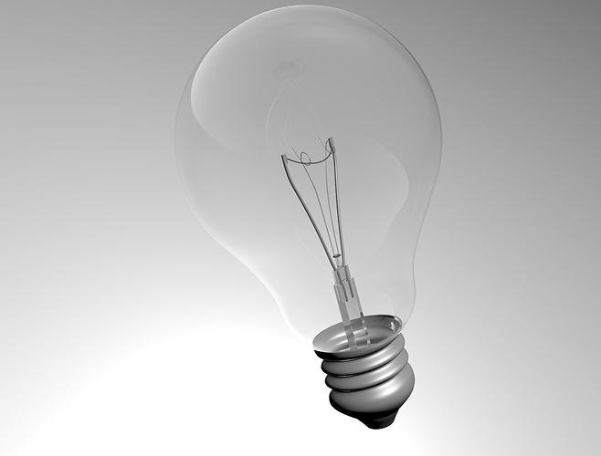 light bulb light 3d model