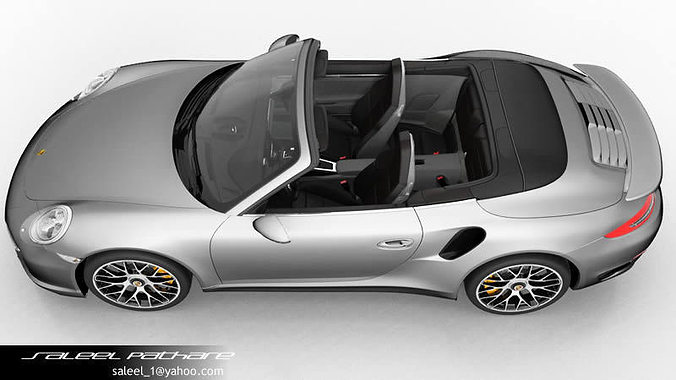911 turbo s cabriolet 2015 interior 3d model max obj 7 - 911 Porsche Turbo 2015
