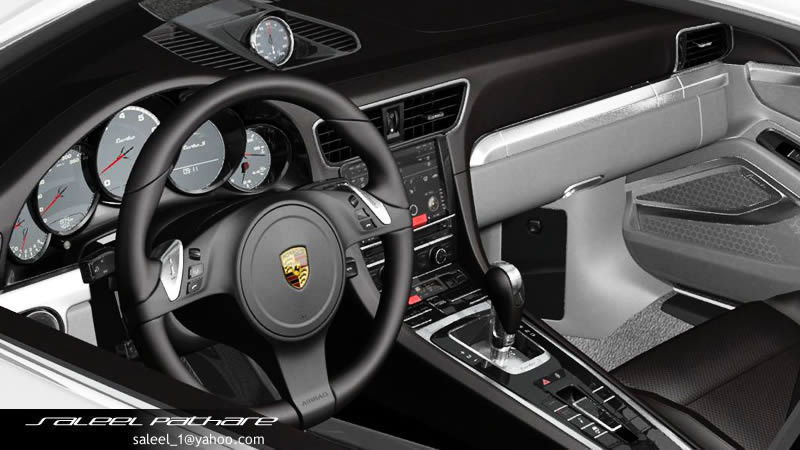 911 turbo s cabriolet 2015 interior 3d model max obj 15