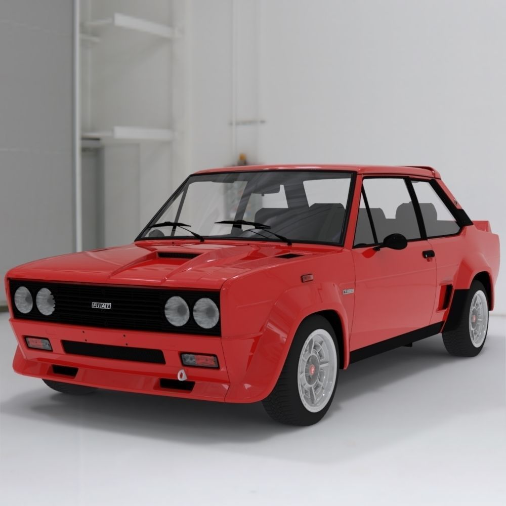 Fiat Abarth 131 Stradale Sports Car 3d Model Cgtrader