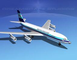 3D model Boeing 707 British Midland