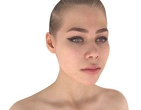 3D asset Apose Topless Girl