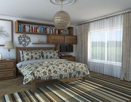 3D bedroom interior Bedroom