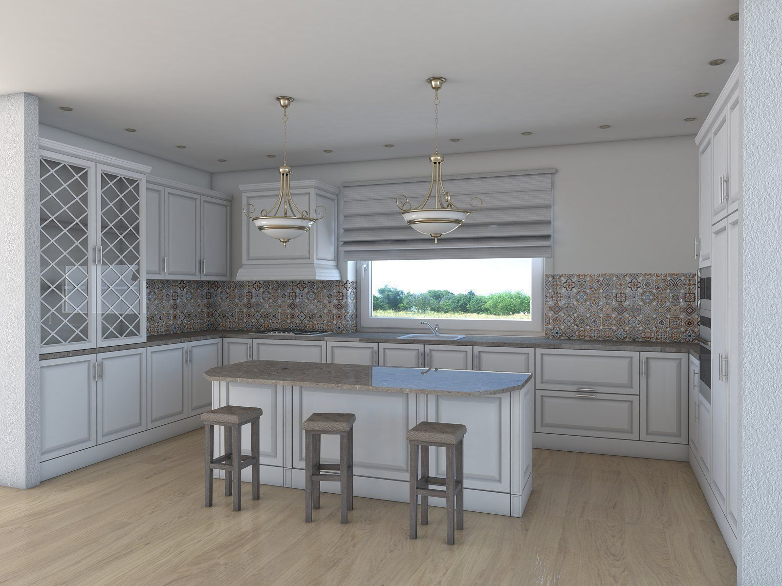 Kitchen 3D Model Pleasing Kitchen Architectural 3D  Cgtrader Review
