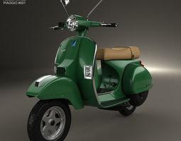 3d model piaggio vespa px 125 2012