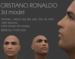 3D asset cristiano ronaldo