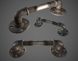 3D asset Rusted Pipe - Lowpoly