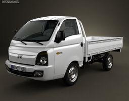 Hyundai HR Porter Flatbed Truck 2013 3D model