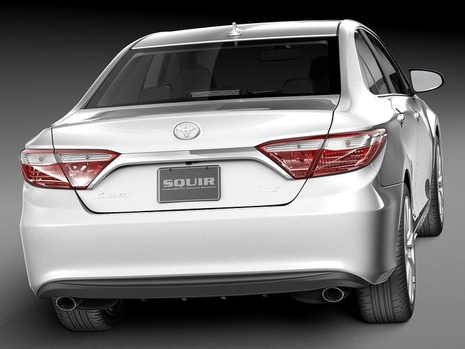 Toyota Camry 2015 3D Model MAX OBJ 3DS FBX C4D LWO LW LWS - CGTrader ...