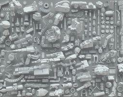 Kit bash-272 pieces- part3 futuristic 3D