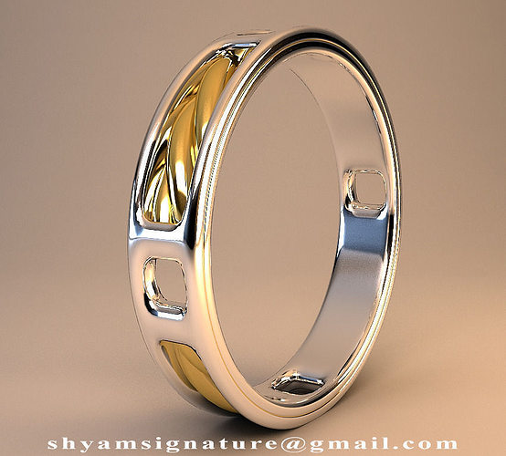 ring of twisted gold 3d model max stl 1