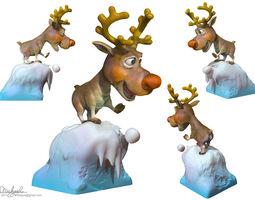 sculptures Rudolph 3D printable model