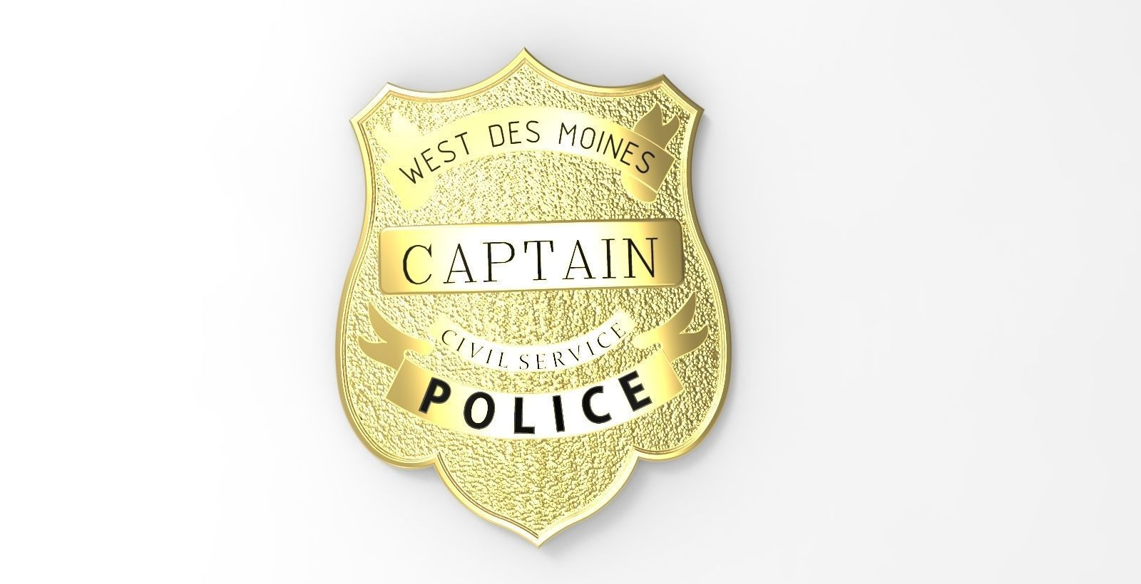 picture regarding Printable Police Badge referred to as Law enforcement BADGE 3D Print Style