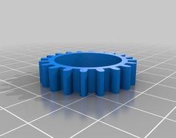 T5 skate bearing idler pulley 3D printable model
