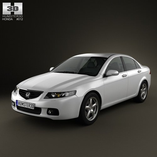 Honda Accord Sedan 2003 3d Model Max Obj 3ds Fbx C4d Lwo