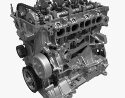 4 cylinder engine block 01 3d model