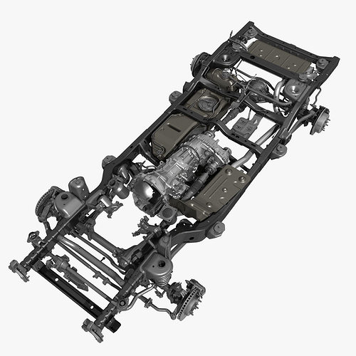 Car Chassis 3D   CGTrader