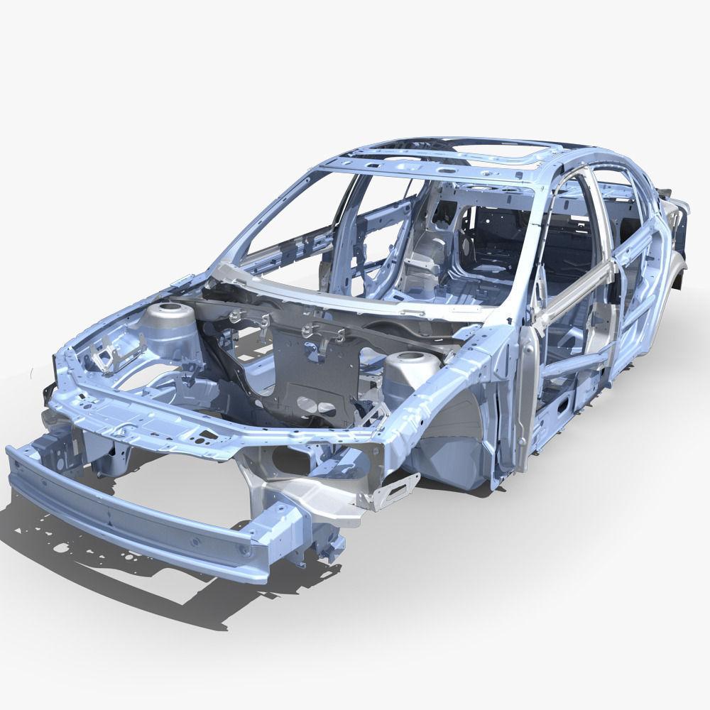 3D Car Frame 04 | CGTrader