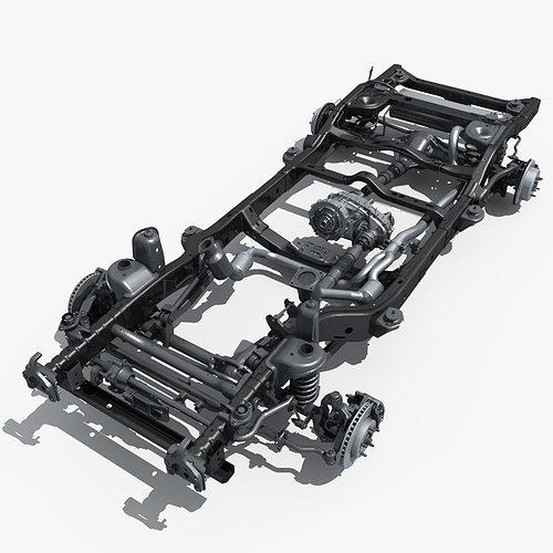 car chassis 02 3d model max obj mtl 1