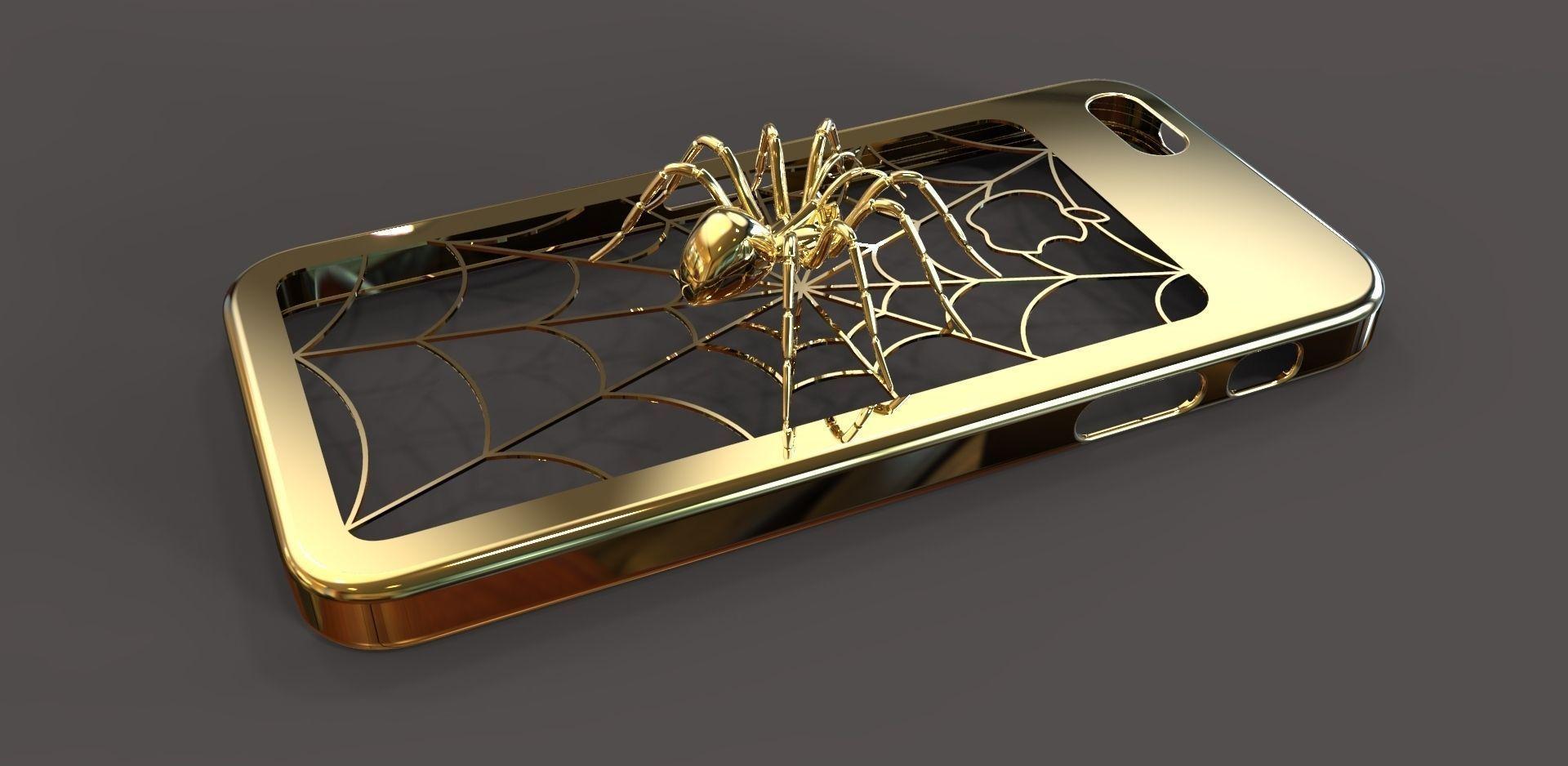 3d Print Model Iphone 5 Spider Case Cgtrader 1 Wrl Wrz