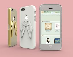 iPhone 5 Angel Wings case 3D Model