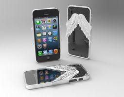 3d printable model iphone 5 angel wings case 2nd version