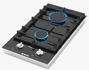 3D BOSCH Domino gas hob PRB3A6D70 Serie 8