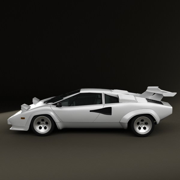 lamborghini countach 5000 qv 1985 3d model max obj 3ds fbx c4d lwo lw lws. Black Bedroom Furniture Sets. Home Design Ideas
