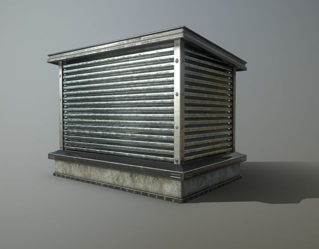 3d Asset Rooftop Air Conditioner Cgtrader