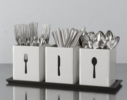 cutlery box 09 am145 3d model