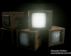Old TV - PBR Game Ready 3D asset