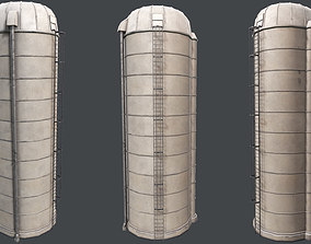 3D model low-poly Farm Silo PBR