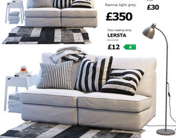 Two-seat sofa IKEA KIVIK 1 3D model