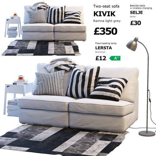 Two Seat Sofa Ikea Kivik 1 Model