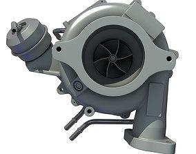 White Turbo Engine 3D model 24