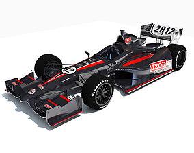 3D model Black Indycar IZOD Race Car