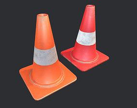 Road Cone PBR 3D model