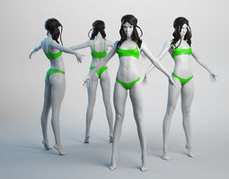 Female Basemesh 04 3D asset