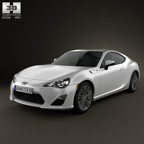 scion fr-s 2013 3d model max obj mtl 3ds fbx c4d lwo lw lws 1