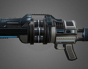 Futuristic Grenade Launcher 3D asset